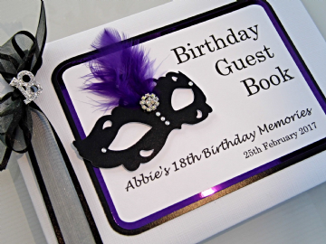 Masquerade Ball Birthday Guest book